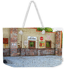 Weekender Tote Bag featuring the photograph Old Saloon Wall by Doug Camara