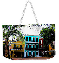 Weekender Tote Bag featuring the photograph Old San Juan Pr by Michelle Dallocchio