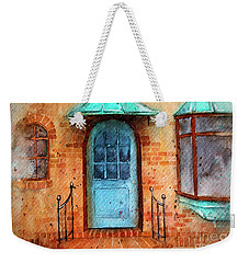 Old Service Station With Blue Door Weekender Tote Bag