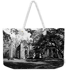 Weekender Tote Bag featuring the photograph Old Sheldon Church  by Gary Wightman