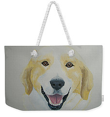 Weekender Tote Bag featuring the painting Old Shep by Norm Starks