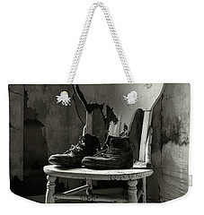 Old Shoes On A Chair Weekender Tote Bag