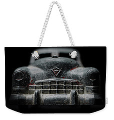 Old Silver Cadillac Toy Car With Specks Of Red Paint Weekender Tote Bag by Art Whitton
