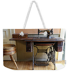Old Singer 2 Mcgulpin Lighthouse Weekender Tote Bag by Mary Bedy