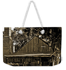Weekender Tote Bag featuring the photograph Old Spanish Sugar Mill Sepia by DigiArt Diaries by Vicky B Fuller