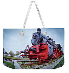 Old Steam Locomotive Close Up Weekender Tote Bag