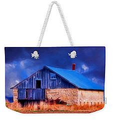 Old Stone Barn Blue Weekender Tote Bag