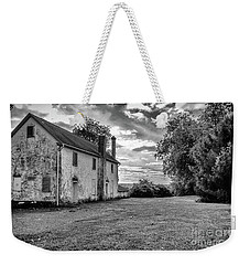 Old Stone House Black And White Weekender Tote Bag