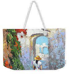 Weekender Tote Bag featuring the painting Old Street  by Dmitry Spiros