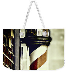 Old Time Barber Pole Weekender Tote Bag