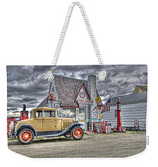 Old Time Gas Station Weekender Tote Bag