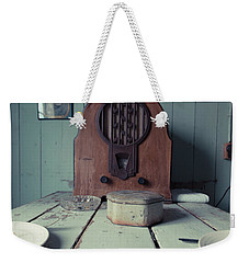 Weekender Tote Bag featuring the photograph Old Time Kitchen Table by Edward Fielding