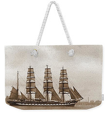 Old Time Schooner Weekender Tote Bag