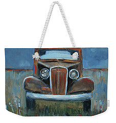 Weekender Tote Bag featuring the painting Old Timer by Billie Colson