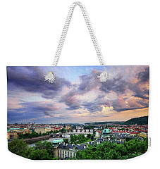 Old Town And Charles Bridge, Prague, Czech Republic Weekender Tote Bag