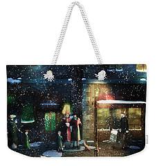 Old Town Christmas Eve Weekender Tote Bag