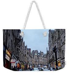 Old Town Edinburgh Weekender Tote Bag by Margaret Brooks