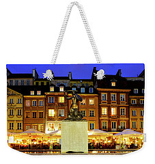 Weekender Tote Bag featuring the photograph Old Town Market Place by Fabrizio Troiani