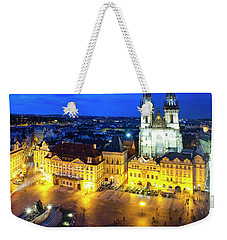 Weekender Tote Bag featuring the photograph Old Town Square by Fabrizio Troiani