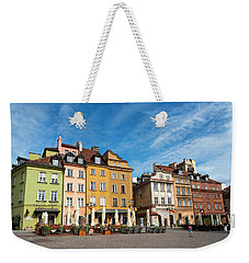 Weekender Tote Bag featuring the photograph Old Town Warsaw by Chevy Fleet