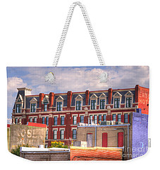 Old Town Wichita Kansas Weekender Tote Bag by Juli Scalzi