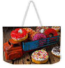 Old Toy Truck And Donuts Weekender Tote Bag by Garry Gay