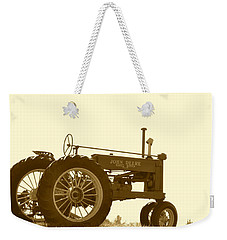 Old Tractor IIi In Sepia Weekender Tote Bag