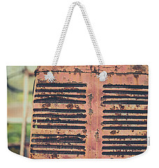 Weekender Tote Bag featuring the photograph Old Tractor Vintage Look by Edward Fielding