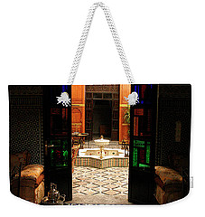 Old Traditional Riad In Fez Weekender Tote Bag by Ralph A  Ledergerber-Photography