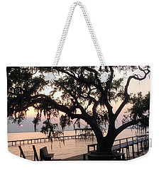 Weekender Tote Bag featuring the photograph Old Tree At The Dock by Christin Brodie