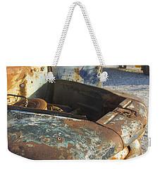 Old Truck In The Beach Weekender Tote Bag by Silvia Bruno