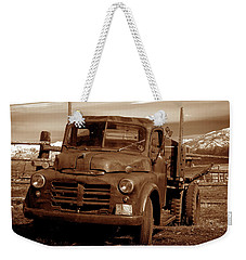 Weekender Tote Bag featuring the photograph Old Truck by Norman Hall
