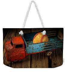 Old Truck With Basball Weekender Tote Bag by Garry Gay