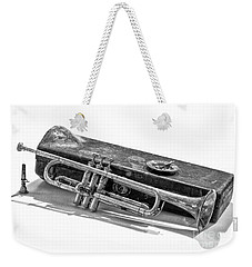 Weekender Tote Bag featuring the photograph Old Trumpet by Walt Foegelle