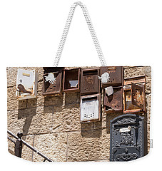 Old  Mailboxes In Jerusalem Weekender Tote Bag by Yoel Koskas