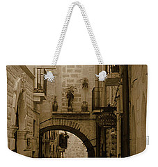 Weekender Tote Bag featuring the photograph Old Village Street by Frank Stallone