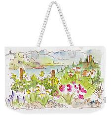 Weekender Tote Bag featuring the painting Old Vines Okanagan by Pat Katz