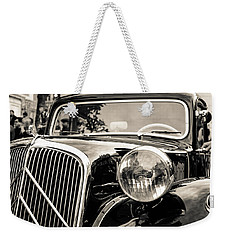 Citroen Traction Avant Weekender Tote Bag by Andrea Mazzocchetti