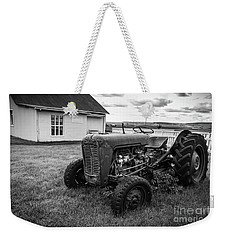 Weekender Tote Bag featuring the photograph Old Vintage Tractor Iceland by Edward Fielding