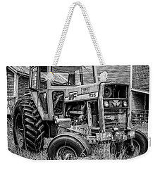 Old Vintage Tractor On A Farm In New Hampshire Square Weekender Tote Bag