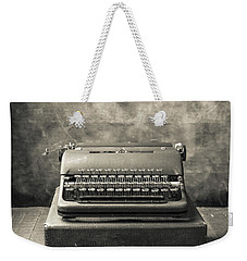 Weekender Tote Bag featuring the photograph Old Vintage Typewriter  by Edward Fielding