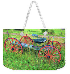Old Wagon Weekender Tote Bag by Marion Johnson