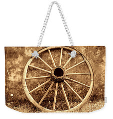 Old Wagon Wheel Weekender Tote Bag by American West Legend By Olivier Le Queinec