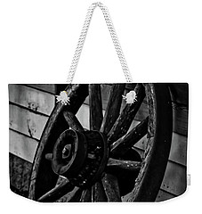 Old Wagon Wheel Weekender Tote Bag by Joann Copeland-Paul