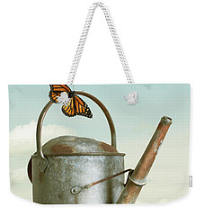 Old Watering Can With A Butterfly Weekender Tote Bag