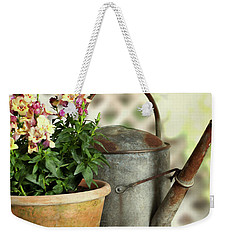 Old Watering Can With Plant Weekender Tote Bag