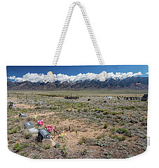 Old West Rocky Mountain Cemetery View Weekender Tote Bag by James BO Insogna