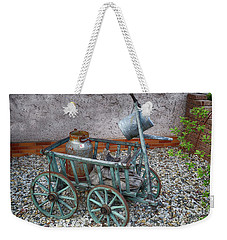 Old Wheelbarrow With Milk Churn Weekender Tote Bag