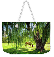 Old Willow Tree In The Meadow Weekender Tote Bag