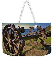 Old Winch Tintagel Weekender Tote Bag by Richard Brookes